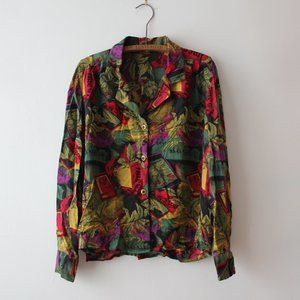 Vintage Funky Colourful Blouse